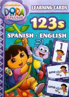 Dora Spanish English Numbers 123s Learning Flash Cards Toys & Games