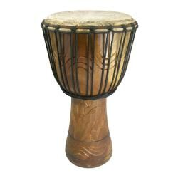 Hand carved 11x22 inch African Djembe Drum Circle Drum (Ghana