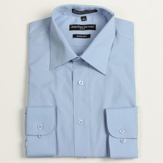 Jean Paul Germain Mens Medium Blue Convertible Cuff Dress Shirt