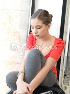 Sad teenage girl  Stock Photo © Lev Dolgachov #9423392