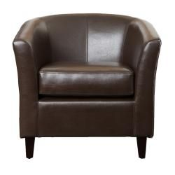 Christopher Knight Home Preston Bonded Leather Brown Club Chair