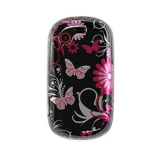 Pink Butterfly Samsung Gravity Touch T669 Crystal Case
