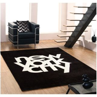Tapis NEW YORK CITY 160x230cm noir & blanc   Achat / Vente TAPIS Tapis