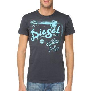 DIESEL T Shirt Ducha Homme Anthracite   Achat / Vente T SHIRT DIESEL