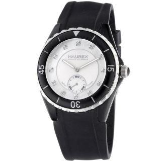 Haurex Italy Womens Riviera Black Rubber Strap Watch