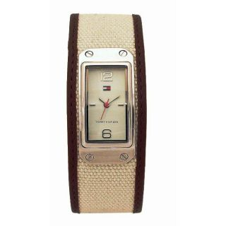Tommy Hilfiger Womens Tan Canvas Strap Watch