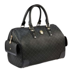 Rioni Signature Black Large Boston Shoulder Bag