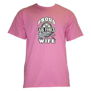 Fruit of the Loom Womens Pink Air Force Wife Graphic Tee