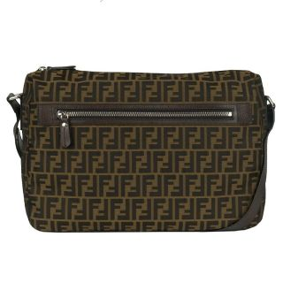 Fendi Zucca Brown Jacquard Messenger Bag