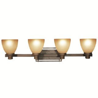 Woodbridge Lighting Wayman 4 light Bronze Bath Bar Light Fixture