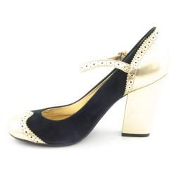 Coach Rosaria Womens Black/Gold Mary Jane Shoes