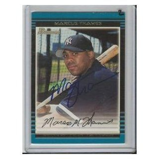 Marcus Thames 2002 Bowman Autograph #132 Yankees Collectibles