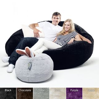 Faux Fur Couple 5 foot Bean Sack