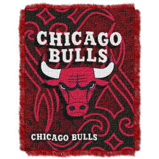 Northwest Chicago Bulls Tattoo Woven Jacquard Throw