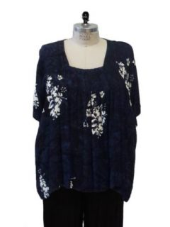 WeBeBop Plus Size Bunga Blue Maxine Blouse Clothing