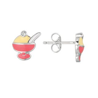 Sterling Silver and Enamel Ice Cream Earrings Today $21.49