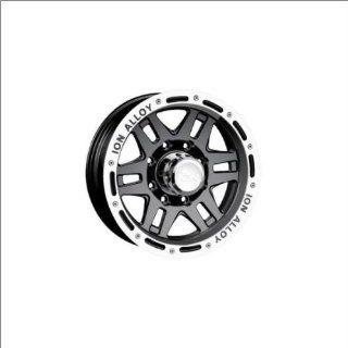 Ion Alloy 133 Black W/Machine 15x8 Black w/Machine    27 offset