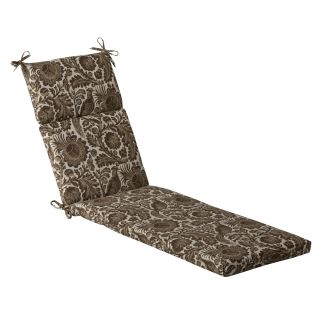 Pillow Perfect Outdoor Brown/ Beige Floral Chaise Lounge Cushion