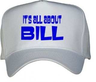 Its All About Bill White Hat / Baseball Cap Clothing