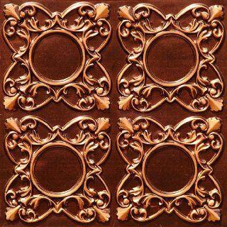 133 Faux Tin Ceiling Tile Glue up 24x24   Antique Copper