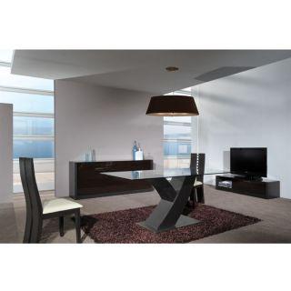 SIENA Table 180x90 avec plateau verre   Achat / Vente TABLE A MANGER