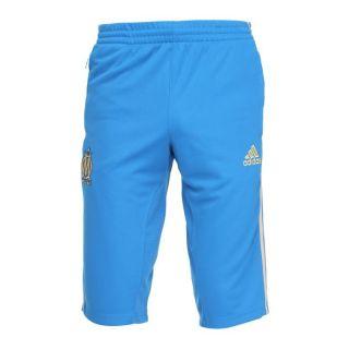 Modèle Trg OM. Coloris  bleu et or. Pantalon 3/4 ADIDAS Homme 100%