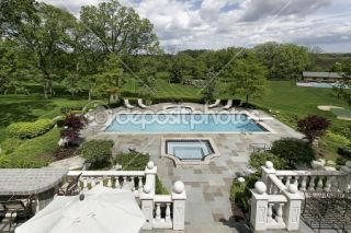 Expansive rear view of luxury home  Stock Photo © lmphot #8728253