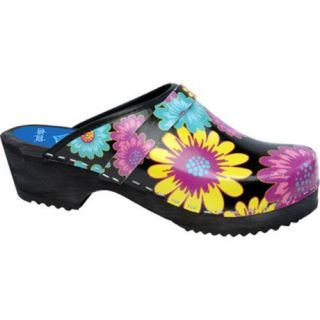 Cape Clogs Gerber Daisy Black/Multi