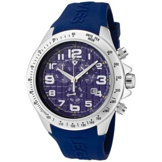 Swiss Legend Mens Eograph Blue Silicone Chronograph Watch