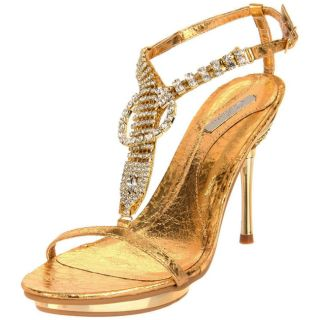 Celeste Womens Joyce 06 Gold T strap Sandals