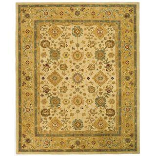 Handmade Heirloom Ivory/ Gold Wool Rug (8 x 10)