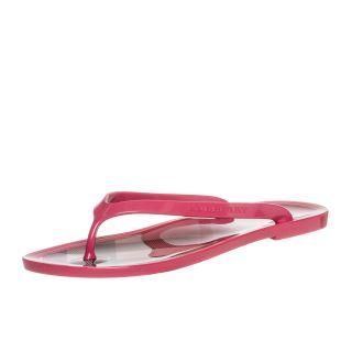 Burberry Womens Nova Check Pink Jelly Flip Flops