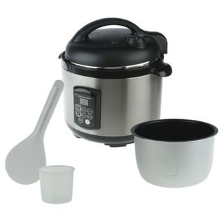 Cooks Essentials 5  quart Nonstick Voice Command Pressure Cooker