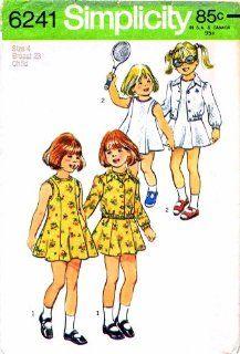 Simplicity 6241 Vintage Sewing Pattern Toddler Girls Dress