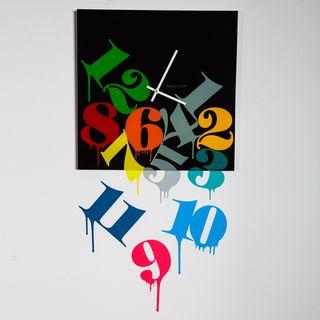 Maxwell Dickson Melting Numbers Wall Clock