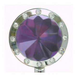 Purple/Silver Bling Crystal Purse Hanger Shoes
