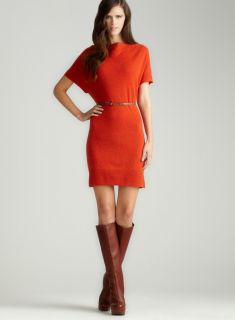 Chelsea & Theodore Cashmere Belted Dress