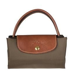 Longchamp Le Pliage Mini Army Green Nylon Tote Bag