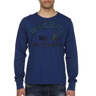 DIESEL T Shirt Nopal Homme Bleu nuit   Achat / Vente T SHIRT DIESEL T