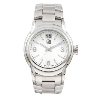 ESQ Mens Stainless Steel Silver Dial Watch