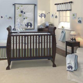 Lambs & Ivy Jungle Story 6 piece Crib Bedding Set