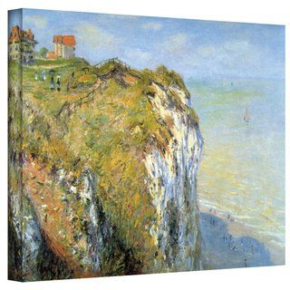 Claude Monet Cliffs Gallery Wrapped Canvas