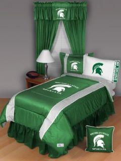 MSU   Michigan State Spartans Bedding Set   6 pc. TWIN
