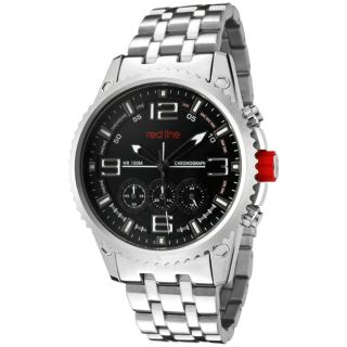 Red Line Mens Boost Black Dial Stainless Steel Chronograph Watch