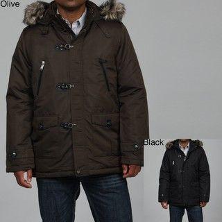 Steve Madden Mens Nylon Puffer Coat