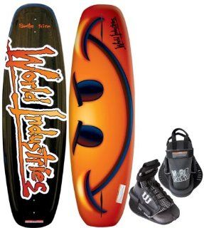 Kwik Tek World Industries Smile Wakeboard with Faction