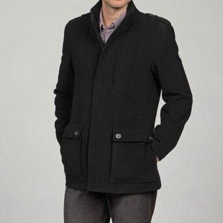 Cole Haan Mens Black Wool /Cashmere Blend Jacket FINAL SALE