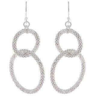 La Preciosa Sterling Silver Interlocking Circle Earrings