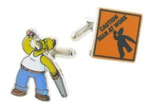 Homer Simpson Man at Work Cufflinks with Presentation Box