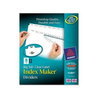 Avery White Index Maker with Big Tab (8 Tab)